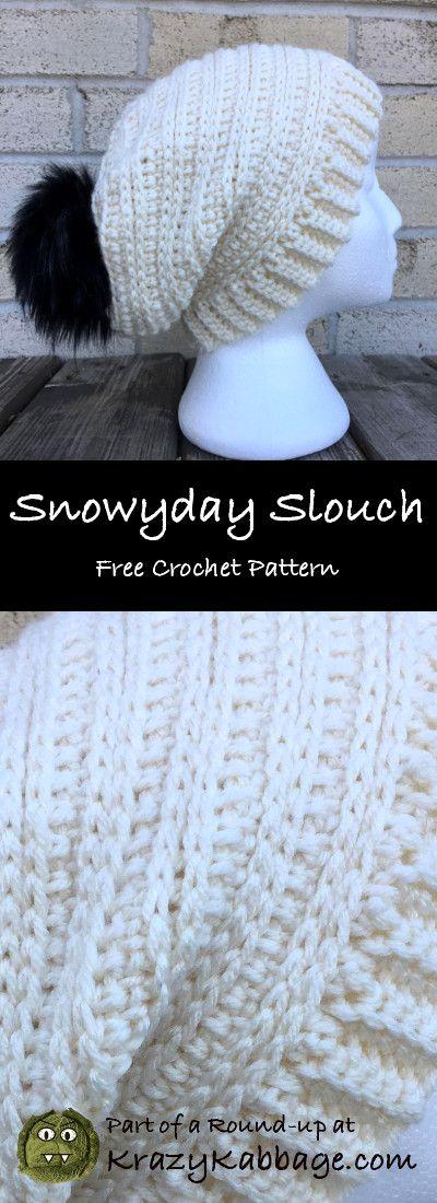 Slouch Hats Free Crochet Patterns – Krazy Kabbage #crochet #free #pattern #slouc…