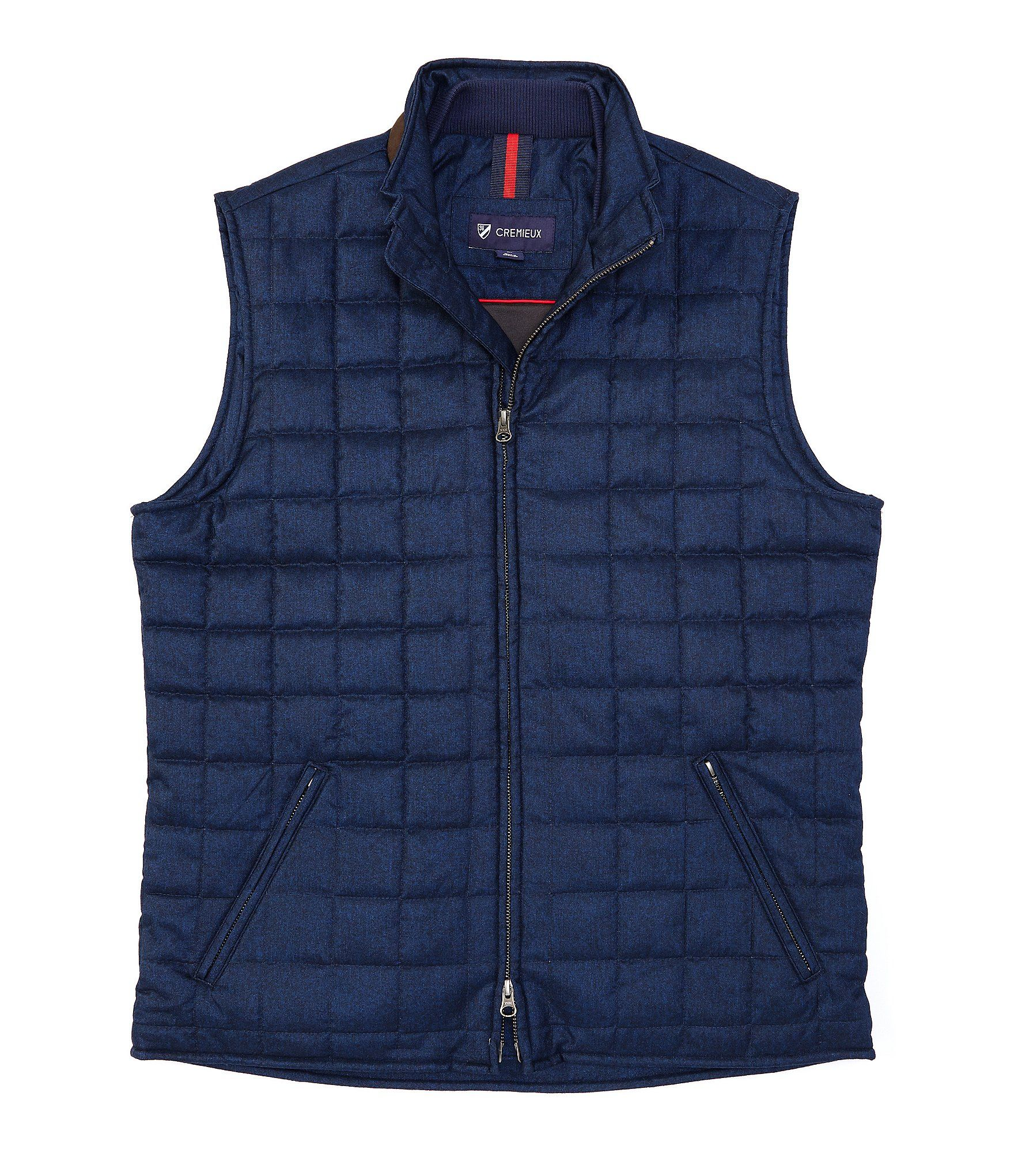 Cremieux Bryan Brushed Full-Zip Quilted Vest | Dillard's