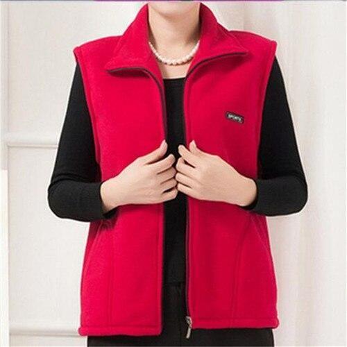 2019 New Fleece Women Vests Autumn Korean Plus size 5XL Sleeveless Jackets Ladies Fashion Zipper Casual Waistcoat Female – Blue XL