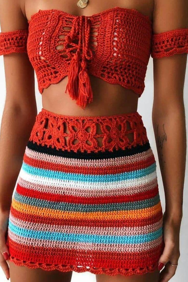 40+ Free Summer Crocheted Swimwear- Best Crochet Bikini Bottom and Upper Models 2019 – Page 17 of 47