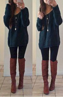 Top 29 Cute Chic Women's Leggings Outfits Ideas
