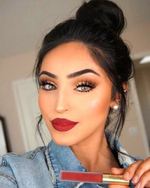 50 Pretty Makeup Ideas With Red Lipstick