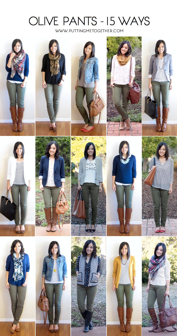 How to Wear Olive Skinny Jeans – 15 Ways