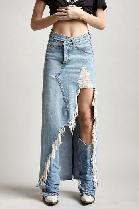 50 Hottest Denim Skirt Outfits Ideas