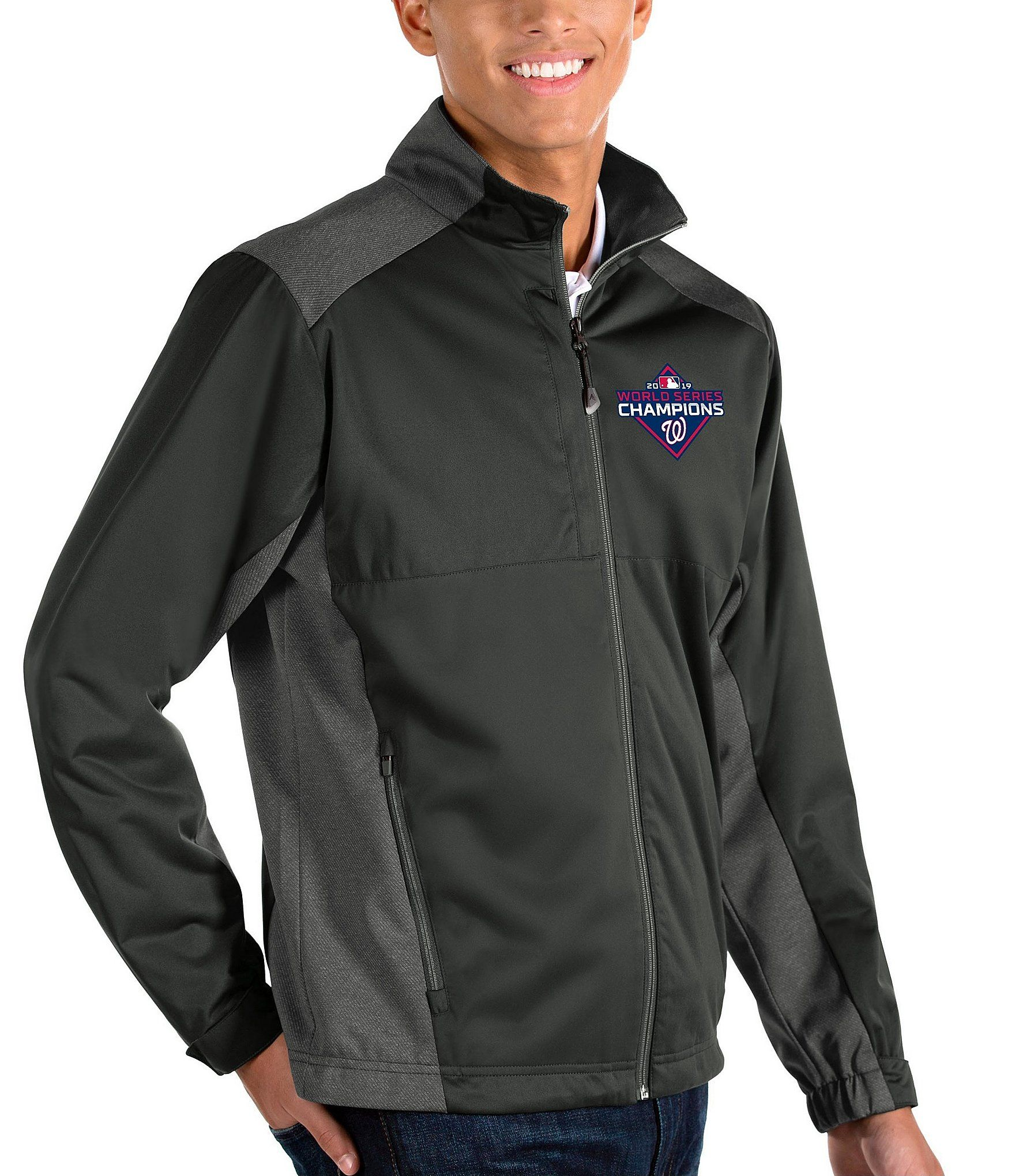 Antigua MLB World Champions Washington Nationals Revolve Full-Zip Waterproof Jacket | Dillard's