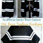 Fall & Winter Women Cardigan Free Crochet Patterns