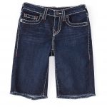 True Religion Big Boys 8-20 Geno Cut-Off Denim Shorts - Light Wash 10