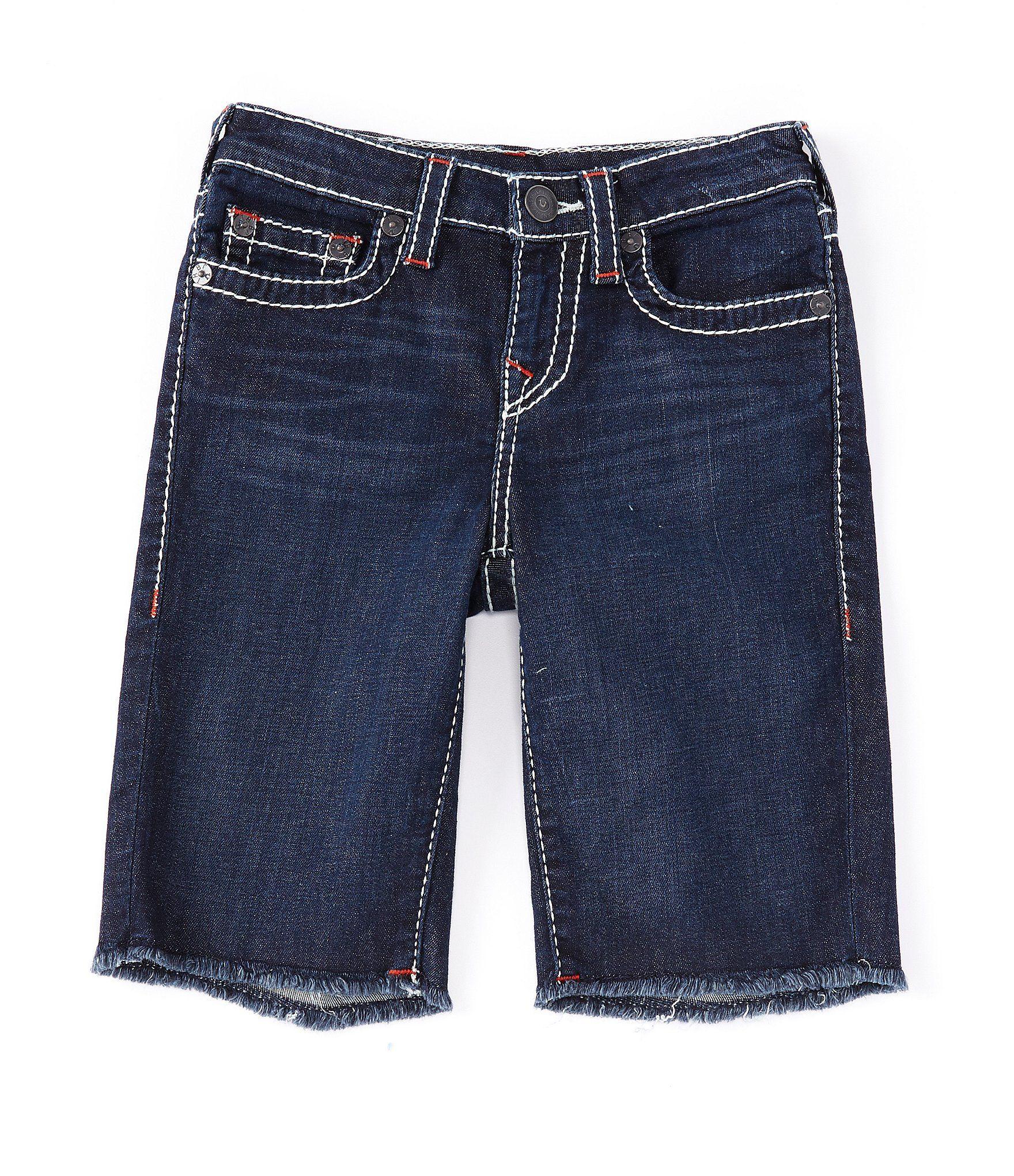True Religion Big Boys 8-20 Geno Cut-Off Denim Shorts – Light Wash 10