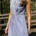 30 Dresses in 30 Days: Garden Party // Light blue contrast broderie anglaise emb...