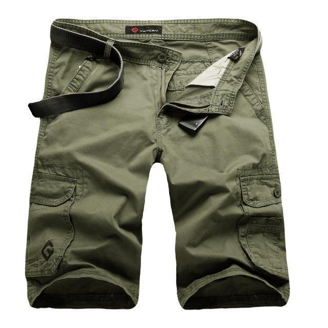 Men Cargo Shorts / Casual Fashion Pockets  Army Green Shorts green / 36