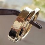 Gold Hammered Band - Wedding Ring - 14k Gold Wedding Ring