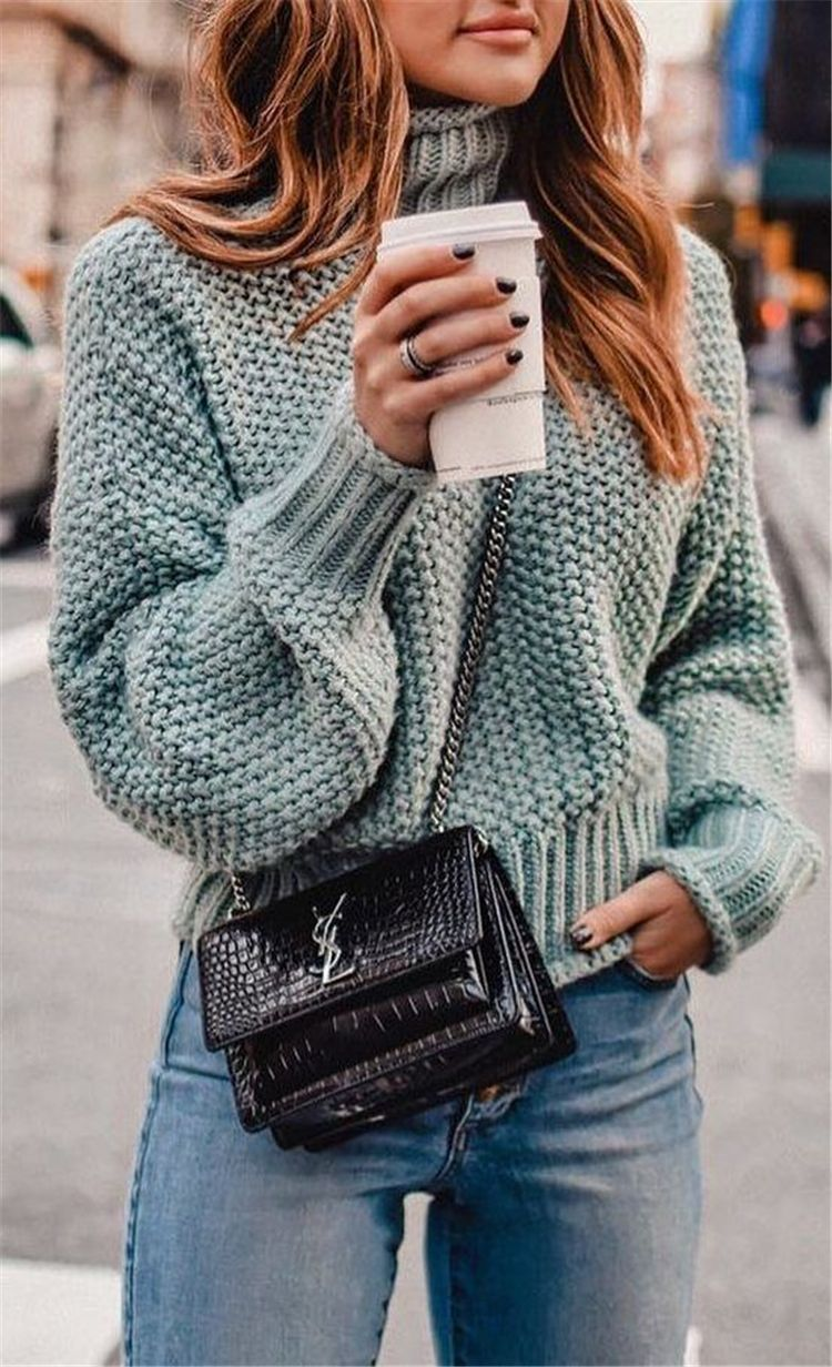 50 Trendy And Comfortable Winter Sweater Outfit Ideas You Should Copy Right Now – Page 14 of 50