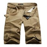 Men Cargo Shorts / Casual Fashion Pockets  Army Green Shorts khaki / 29