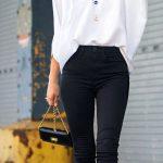 Shop this look on Lookastic: lookastic.com/... — Black Sunglasses — Blue Pen...