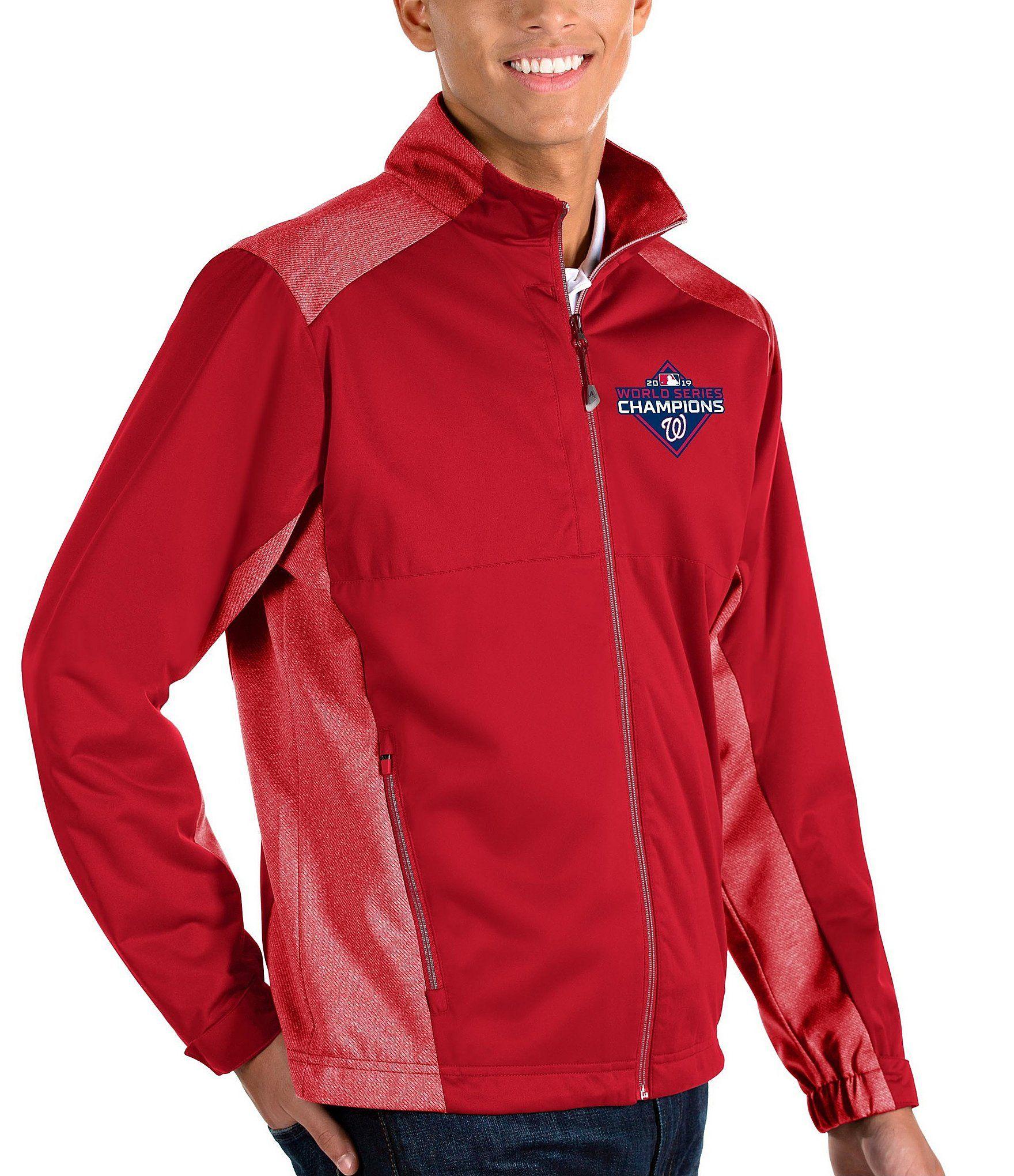 Antigua MLB World Champions Washington Nationals Revolve Full-Zip Waterproof Jacket | Dillard's