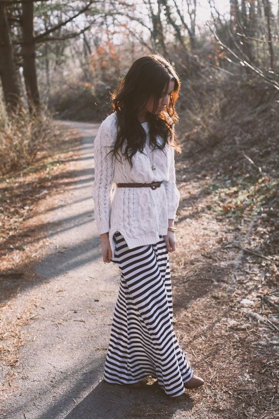 How to Wear Maxi Dresses all Winter Long