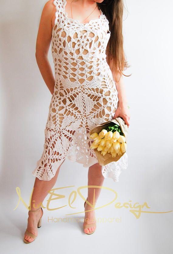 Crochet Beach Dress, Crochet Maxi Dress, Crochet Dress, Knitted Dress, Bohemian Dress, Hippie Dress,Crochet Clothing,Lace Crochet,Knit Dress