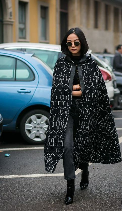 60+ Capes Outfits Street Styles Ideas