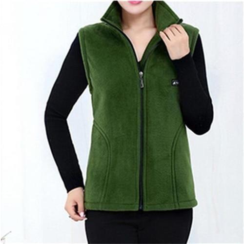 2019 New Fleece Women Vests Autumn Korean Plus size 5XL Sleeveless Jackets Ladies Fashion Zipper Casual Waistcoat Female
