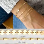 Dainty Chain Bracelet, Delicate Bracelets for Women, Layering Bracelet, Gold Chain, Coin, Tube, Lace, Satellite Chain, LEILAjewelryshop,B201