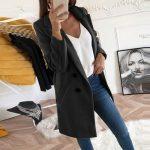2019 new Overcoats 2019 Autumn Winter Long Sleeve Lapel sweater Women Plus Size XXXL Casual Oversize Outwear Jackets Coat -85