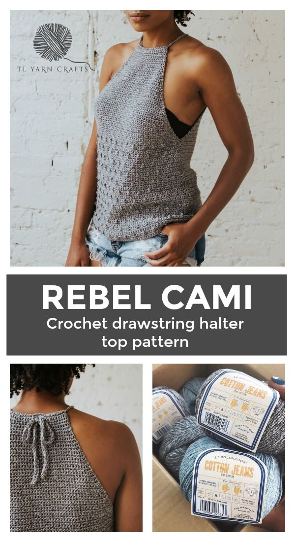 The Rebel Cami, a Crochet Pattern from
