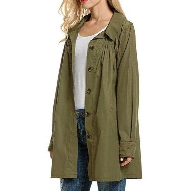 Women Lightweight Waterproof Coat Outdoor Hooded Clothes A-Line Style Women's Raincoat Jacket Newest – DL XXL China