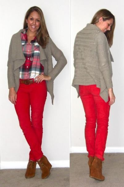 16  Trendy How To Wear Red Pants Buttons