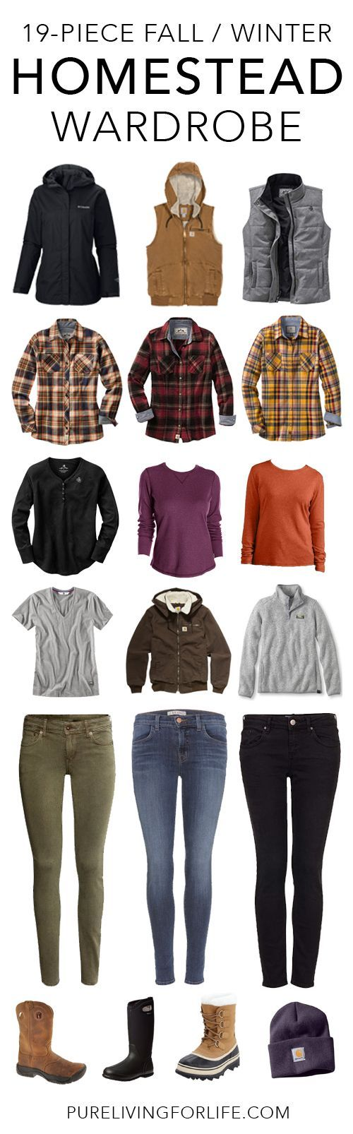 19-Piece Fall / Winter Homestead Wardrobe