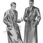 1940's Vintage Sewing Pattern: Men's Dressing Gown, Robe, Smoking Jacket. Chest 38""