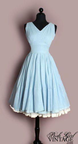 1950's fashion   1950's Fashion Vintage Dress. I'm going to wear a dress like th…