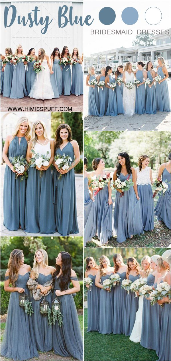 20 Dusty Blue Bridesmaid Dresses You'll Love