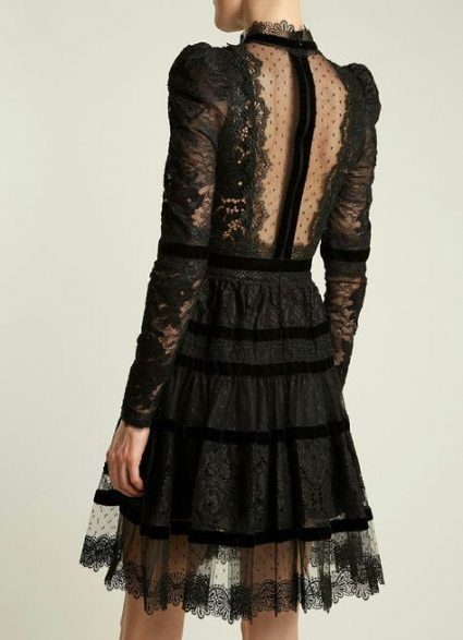 20+ Trendy Dress Lace Back Black Fashion