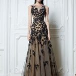 2014 HOT Sexy Zuhair Murad Crew Neck Prom Dresses /Lace Black /Tulle /Nude Color Chiffon /Floor Length Evening Dresses Celebrity Dresses Plus Size Long Evening Dresses Pregnant Evening Dress From Linlin5518, $110.65| DHgate.Com