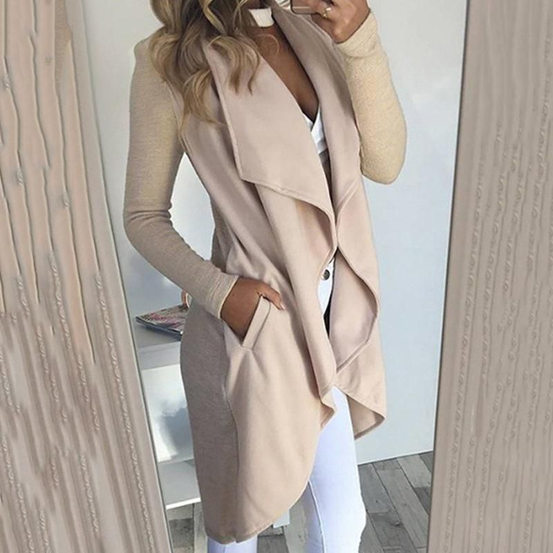 2019 CEA Women's Large Lapel Slim Outerwear