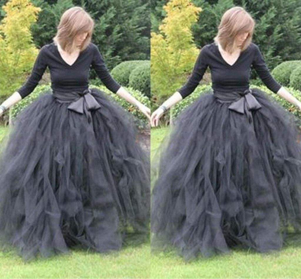 2019 Floor Length Ball Gown Skirts For Women Ruffled Tulle Long Skirt Adult Women Tutu Skirts Lady Formal Skirts With Sashes From Yoursexy_cute, $30.87   DHgate.Com