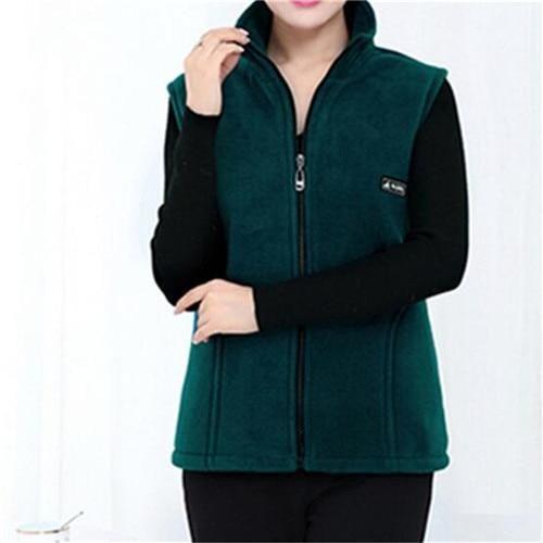 2019 New Fleece Women Vests Autumn Korean Plus size 5XL Sleeveless Jackets Ladies Fashion Zipper Casual Waistcoat Female – Fuchsia XXXL