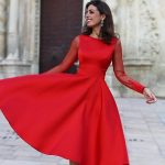 2019 Sheer Long Sleeves Red Homecoming Dresses A Line Jewel Neck Backless Tea Length Cocktail Dresses Mother Formal Gowns Cheap Expensive Homecoming Dresses Floral Homecoming Dresses From Factory Sale, $108.83| DHgate.Com