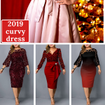 2019 plus size winter dress for curvy girls~ #womenschristmasoutfits Free Shippi...