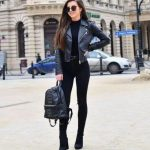 21 Outfits With Leather Jackets Black glamsugar.com