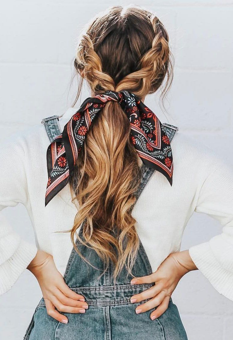 21 Pretty Ways To Wear A Scarf In Your Hair – Fabmood | Wedding Colors, Wedding Themes, Wedding color palettes