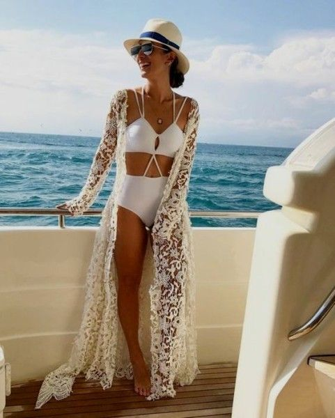 22 Cool White Bathing Suits glamhere.com