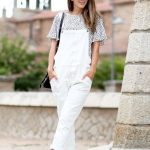 3 Le Fashion Blog 17 Ways To Wear White Overalls Mirrored Sunglasses White Birke...
