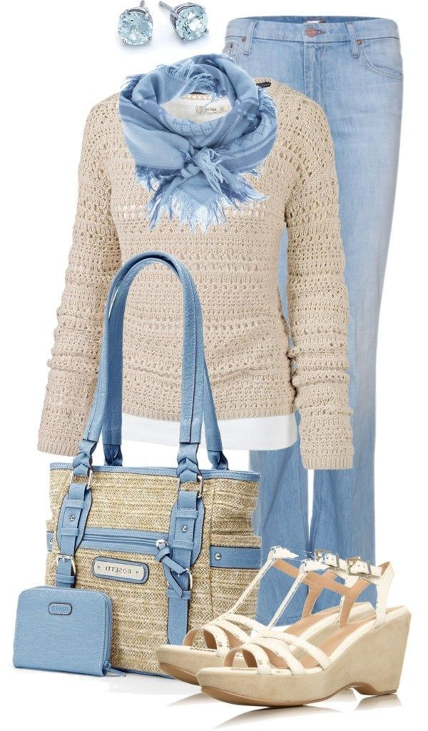 30 Cool Ways to Wear Baby Blue this Year – Women Jeans – Ideas of Women Jeans #w…