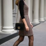 30 DRESSES IN 30 DAYS: Client Meeting //  Tweed fit and flare houndstooth dress,...