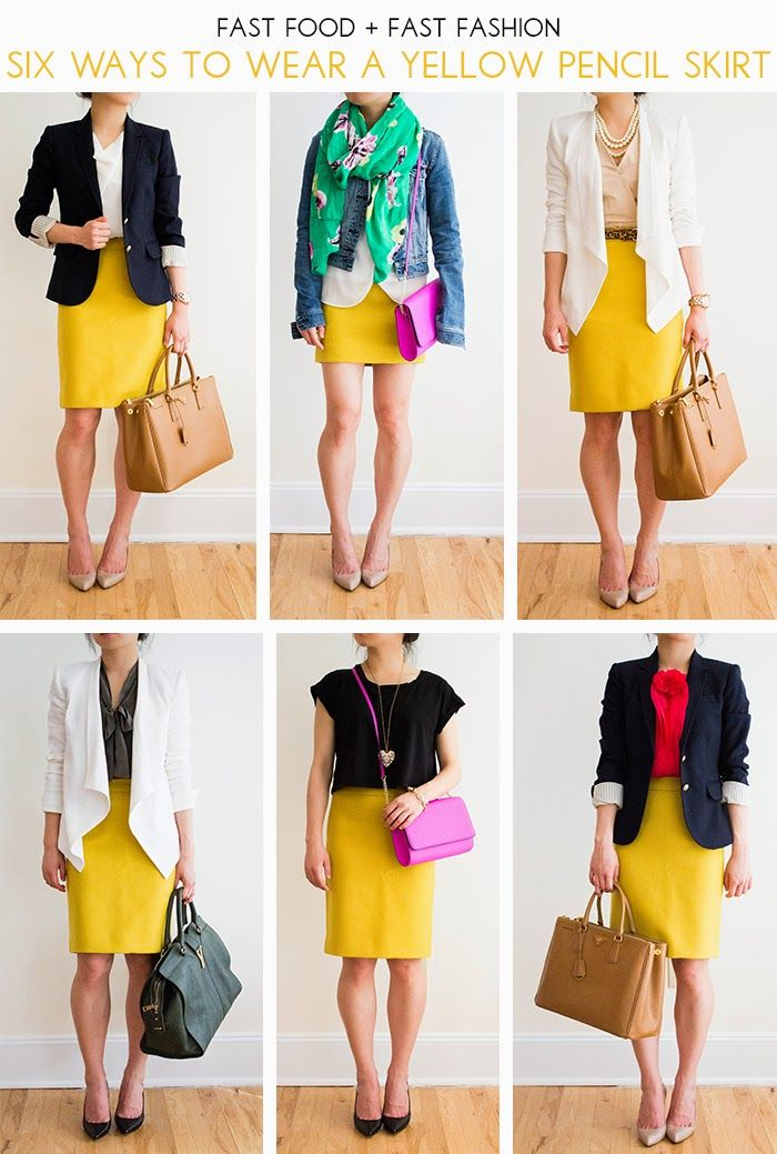 30 Outfits in a Bag: Yellow Skirt