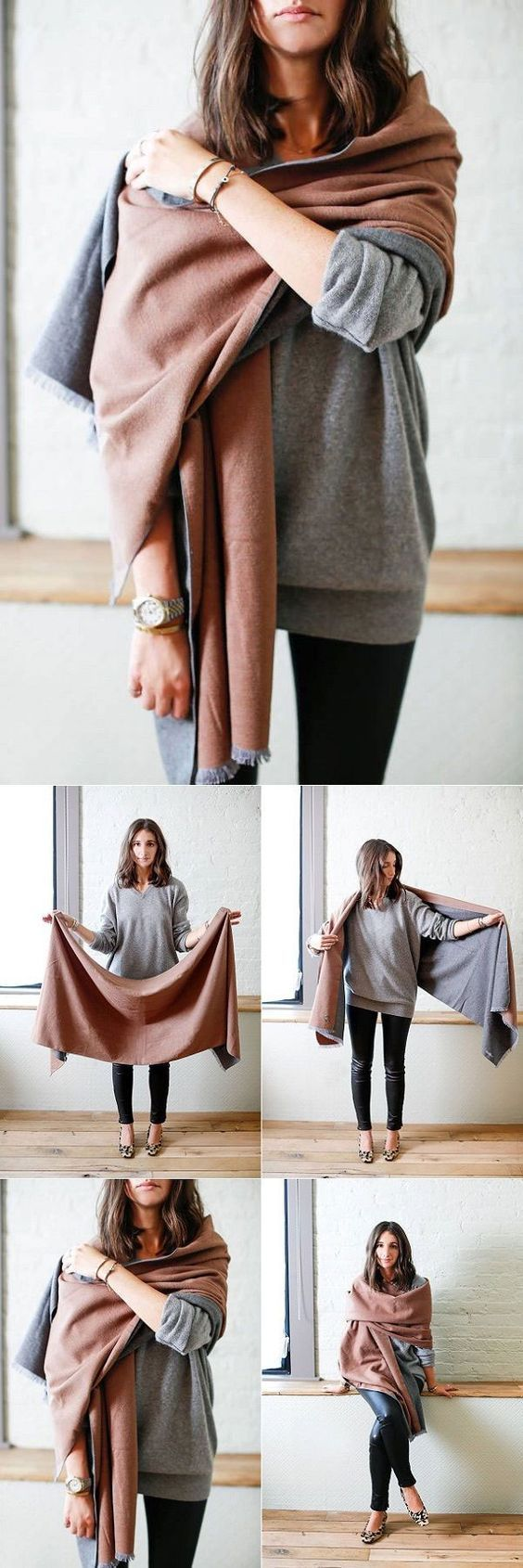 30 Super Stylish Ways To Tie A Pashmina Scarves/Shawl