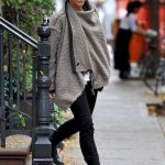 31 Trending Winter Outfits Oversized Poncho Outfit Ideas