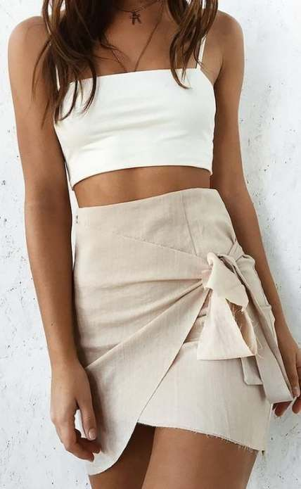 33+ Ideas Skirt Wrap Outfit Summer Short For 2019