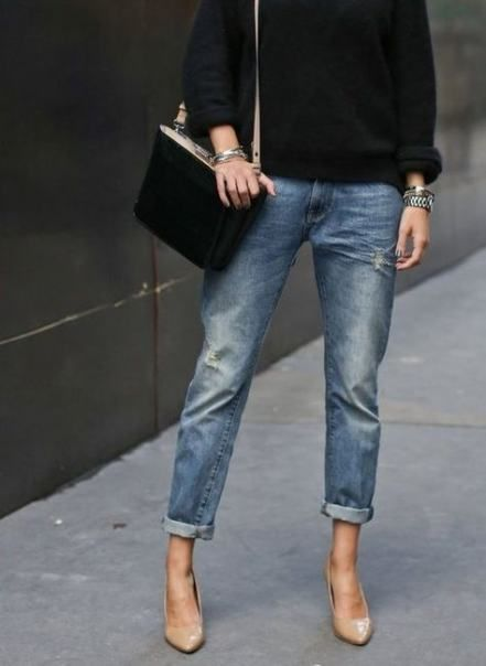 33+  ideas for how to wear boyfriend jeans in summer heels